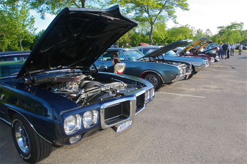 The first night of the BID sponsored Classic Car Cruise night was held in the back of the parking lot downtown along Heidi Behr Way Thursday. (Credit: Barbaraellen Koch)