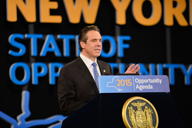 Governor Cuomo giving his State of the State address the Empire State Plaza Convention Center in Albany Wednesday. (Credit: Courtesy Flickr photo)