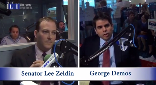 Republican candidates for Congress, Lee Zeldin (L) and George Demos. (Credit: LI News Radio)