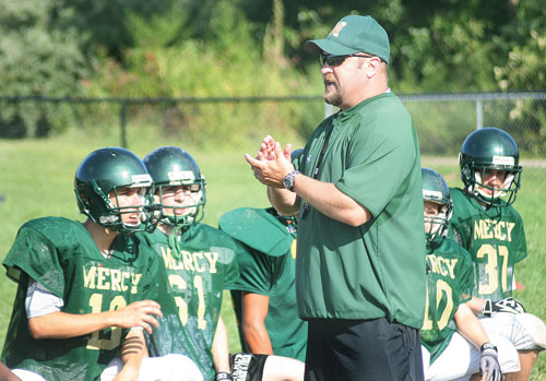 Jeff Doroski was informed he would no longer be the head coach of the Mercy football team. (Garret Meade file photo)