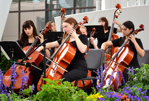 CARISSA WOERNER PHOTO | The High School chamber orchestra perform in Disney's Melody Gardens.