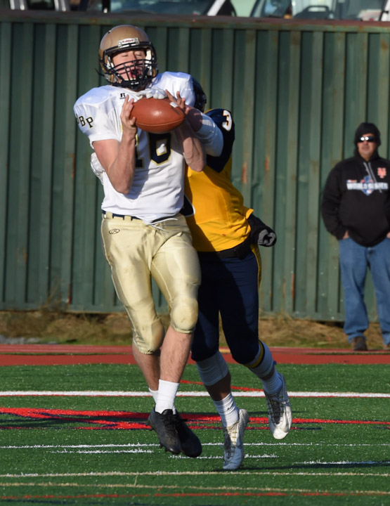 Phantoms wide receiver Ryan Schartner appeared to have this catch until Daniel Cassidy knocked the ball out of the receiver's hands.