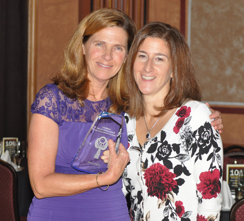 PAUL SQUIRE PHOTO | Deb Schmitt with award presenter Carmela Di Talia.