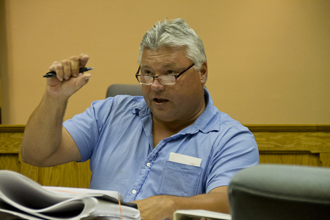 Ed Densieski, a former town councilman, spoke against the proposed mixed-use plan for EPCAL. (Credit: Paul Squire, file)