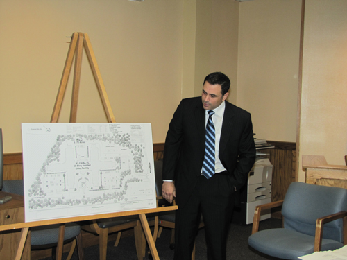 Robert DiNoto descibes plans for an assisted living project in Jamesport