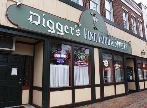 Digger O'Dell's on West Main Street in Riverhead. (Credit: Barbaraellen Koch)