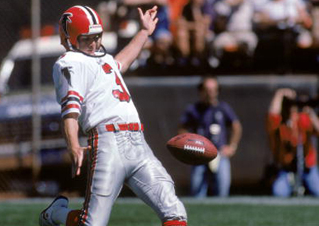 GEORGE ROSE/GETTY IMAGES PHOTO | Miller Place graduate Rick Donnelly was a two-time All-Pro punter in the NFL with the Atlanta Falcons.