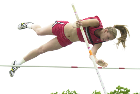 ROBERT O'ROURK FILE PHOTO | At Mount Sinai Amy Linnen was the top pole vaulter in the state.