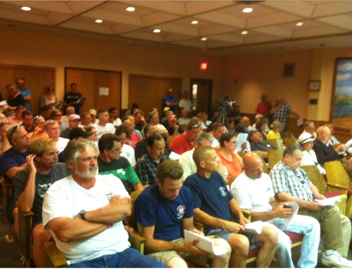 TIM GANNON PHOTO | Members of the public packed Town Hall Tuesday night.