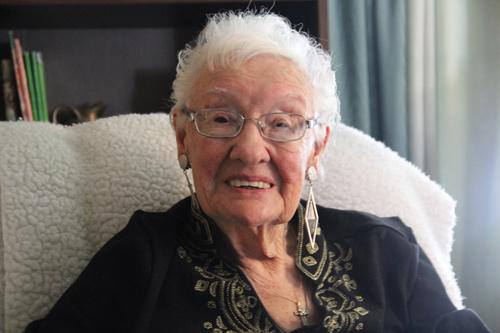 CARRIE MILLER PHOTO | Edna Wagner of Riverhead celebrates her centennial birthday next Friday, June 21.