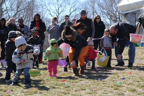Eager egg seekers take off looking for the golden egg last year. (Credit: Carrie Miller, file)