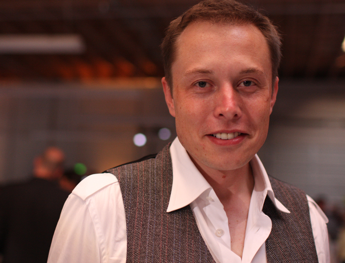 Elon Musk at the Tesla Grand Opening in 2008 (Credit: Brian Solis, Creative Commons)