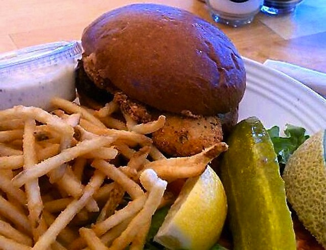 Fried chicken sandwich from Erik's