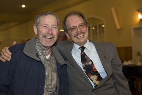 Dan Gilrein and a friend during the gala. (Credit: Courtesy LIFB)