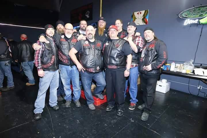 Members of the Road Reapers Club at Friday's fundraiser. (Courtesy photo)