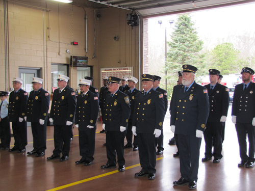 The Flanders Fire Department memorial service was held at the firehouse Sunday. Tim Gannon photo