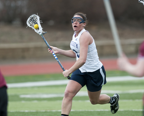 Rachel Feirstein played fours of lacrosse at Monmouth University. She officially became the head coach at Shoreham this week. (Credit: Monmouth Athletics)