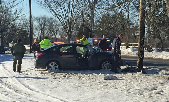 Crash on Main Road in Jamesport
