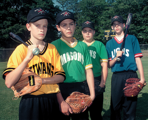 BARBARAELLEN KOCH FILE PHOTO | From left- Christisn Presant, Sean McGuire, Joe Pipczynski and Mike Sauter, the Little Leaguers ruled ineligible for the World Series tournament in 1999.