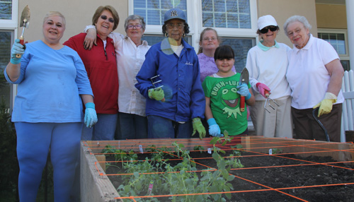 Southampton seniors said they were excited to work with other community organizations at the garden.