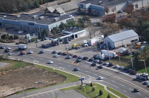 Aerial shots, News-Review, Riverhead, Hess, gas lines
