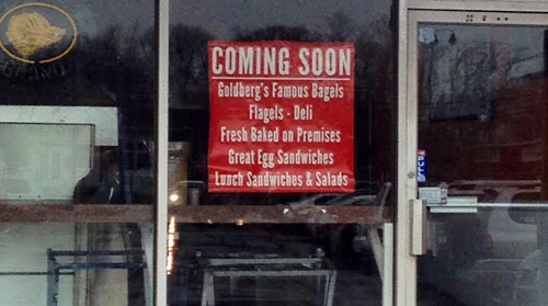 RACHEL YOUNG PHOTO | Two Goldberg's Famous Bagels stores — one in Riverhead and one in Mattituck (pictured) — will open this spring, owner Mark Goldberg said Friday.