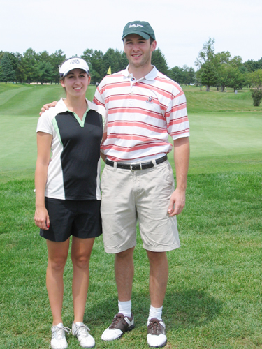 JAY DEMPSEY PHOTO  |  Marie Santacroce and Evan Martilotta were this year's Island's End Club Champions.