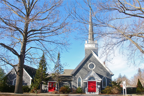A Riverhead man was arrested last month after he allegedly attacked a homeless man with a hammer near the Grace Episcopal Church, officials said. (Credit: Barbaraellen Koch)