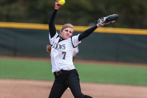 Shoreham-Wading River graduate Chelsea Hawks won 15 games as a freshman pitching at Molloy College this spring. (Credit: Molloy Athletics)