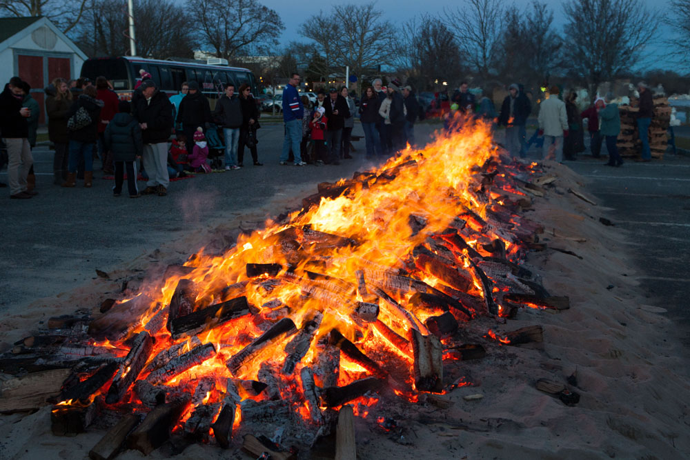 The Riverhead BID's annual Holiday Bonfire was held downtown Saturday evening.