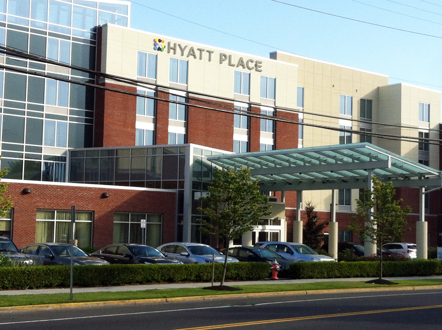 The Hyatt in downtown Riverhead.