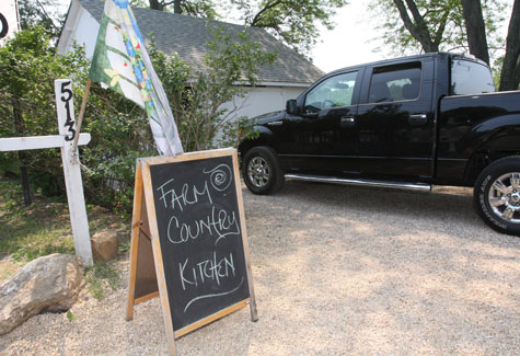 The entrance to Farm Country Kitchen in Riverhead. (Barbaraellen Koch)
