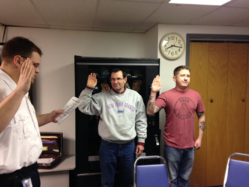 COURTESY PHOTO | Martin McKenna and RJ Hartmann were sworn into the RVAC last month.