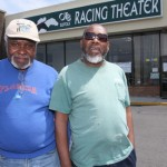 BARBARAELLEN KOCH PHOTO | Bobby Mosely of Riverside (left) and B.B. Morris of Riverhead outside the Riverheaed OTB Friday.