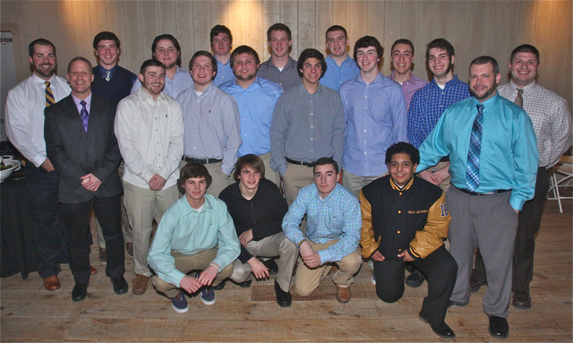 The Shoreham-Wading River football team was honored as the 2014 People of the Year for the News-Review. (Credit: Barbaraellen Koch)