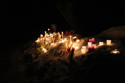 About 7 people attended Monday's vigil. (Credit: Jen Nuzzo)