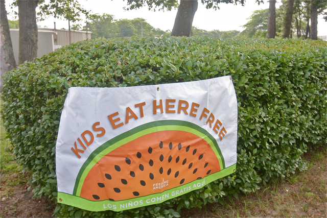 LI Cares started offering free breakfast for kids under age 18 through the end of August. (Credit: Barbaraellen Koch)