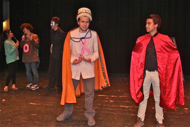 Roy Vasquez as Lord Capitulate and Ryan Mancini as Tybalt. (Credit: Barbaraellen Koch)