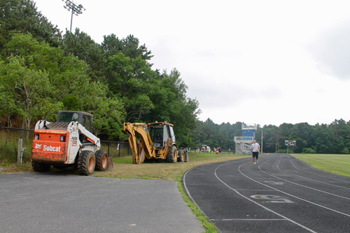 PAUL SQUIRE PHOTO | Repairs are scheduled to begin at the Shoreham-Wading River track this week.