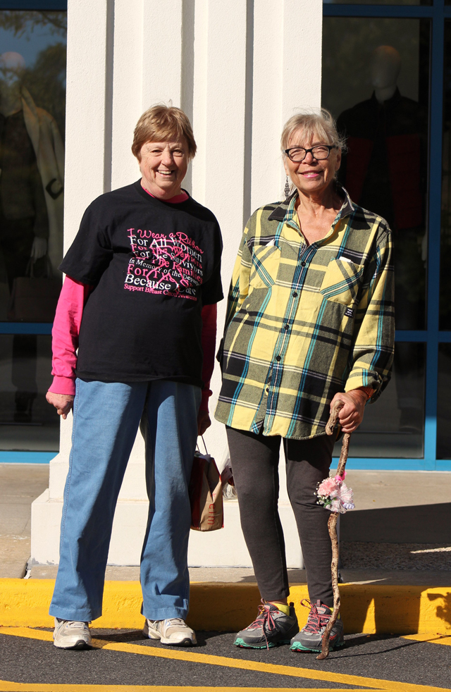 From left, Mattituck friends Connie Kreshon and Doris Yoh.