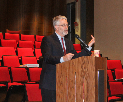 PAUL SQUIRE PHOTO | SWR Superintendent Steven Cohen explains some of the changes the district is considering.