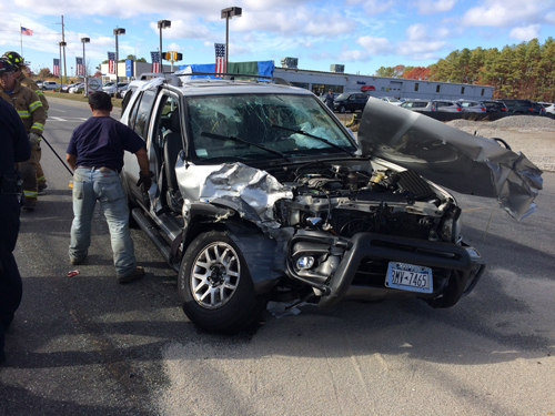 JOEY OLIVER COURTESY PHOTO | The driver of a Dodge Durango was sent to PBMC following a crash on Wednesday afternoon.