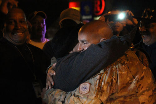PAUL SQUIRE PHOTO | Tech Sgt. Fred Ligon arrived home from a tour in Afghanistan Wednesday night.