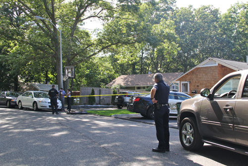 The scene of a home invasion Thursday afternoon. (Credit: Carrie Miller)