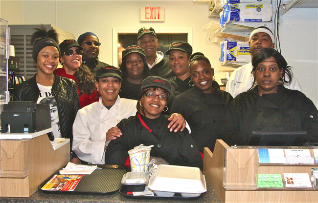 The staff at J&L's. (Credit: Barbaraellen Koch)