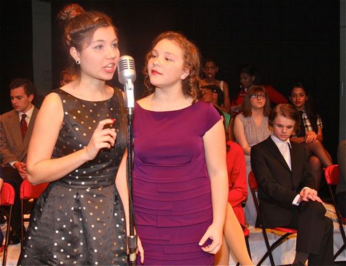 "Kaitlyn Jehele of Riverhead (right) was nominated for Best Actress in a Comedy for her performance in ""It's a Wonderful Life."" (Credit: Barbaraellen Koch)"