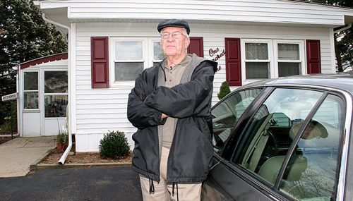 Joe Kummer, a resident of Thurm's Estate's and president of the Mobile Manufactured Homeowners Association of Suffolk at his home in Calverton.