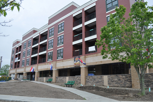 The Summerwind Square affordable rental building in downtown Riverhead opened Nov. 1, 2013. (Credit: Barbaraellen Koch)