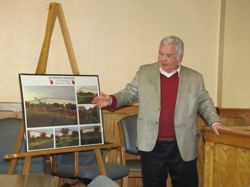 John King describes a proposed cider mill at Grapes and Greens