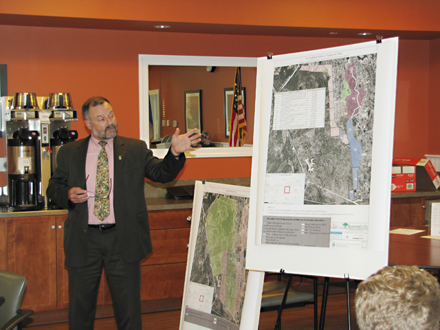 John Pavacic, the Pine Barrens executive director, gave a presentation Monday night. (Credit: Tim Gannon)